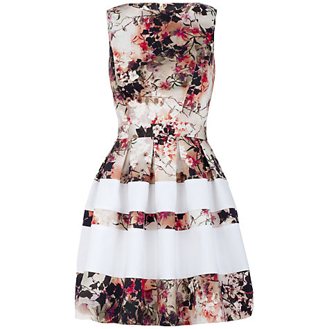 Buy Almari Multi Print Band Skater Dress, White-Multi online at John Lewis