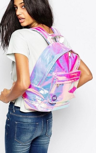 bag backpack multicolor pastel pink