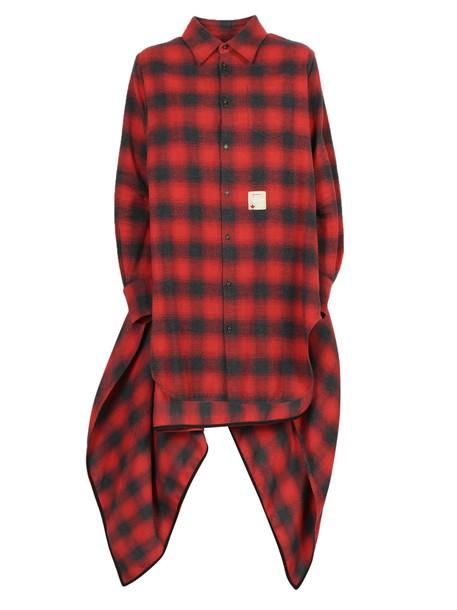 shirt long shirt long black red top