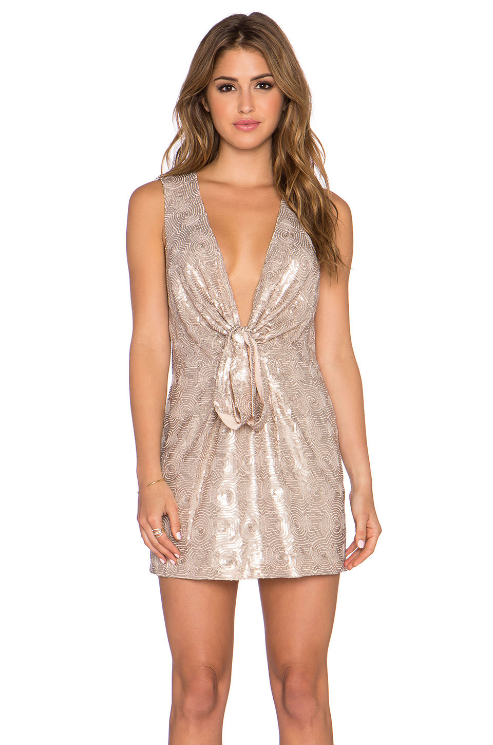 ff10702f24aa5 Free People Gabby's Party All Night Dress in beige / beige - Wheretoget