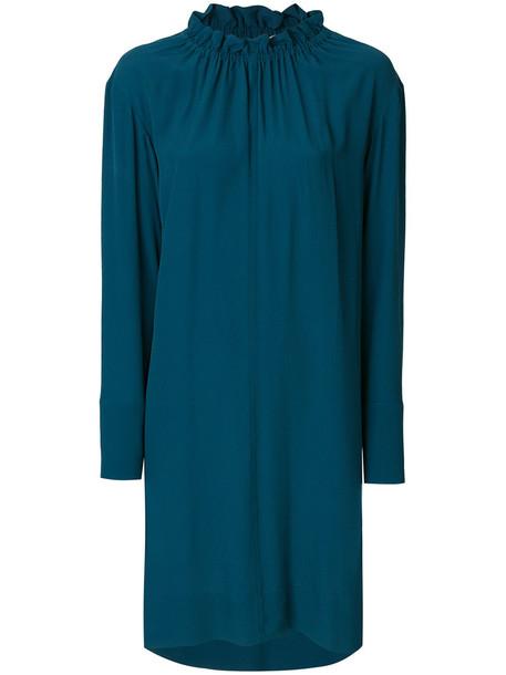 MARNI dress women blue silk
