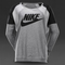 Womens clothing - nike sportswear womens district 72 crew - grey heather / black heather / black