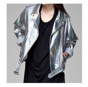 jacket,metallic,shiny,hipster