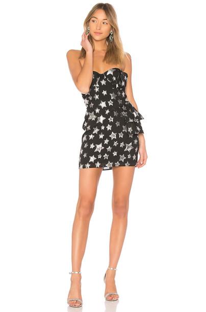 For Love & Lemons dress bow dress bow strapless black