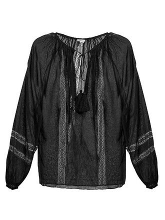 top tassel lace black