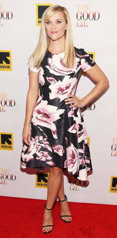 dress,reese witherspoon,floral