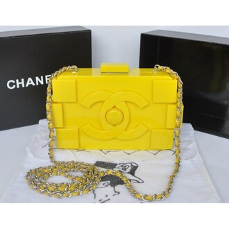 bag chanel bag neon yellow yellow chanel