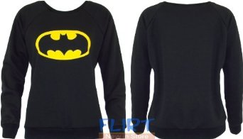 Batman Sweatshirt Ladies Slogan Logo Print Top Womens Sweater Casual Jumper 8-14 (UK 8-10 (S/M), BATMAN LOGO): Amazon.co.uk: Clothing
