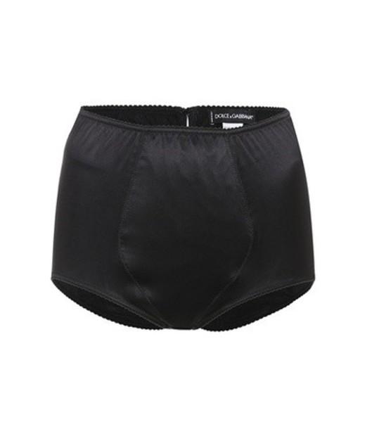 Dolce & Gabbana high silk satin black underwear