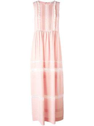 dress women cotton silk purple pink