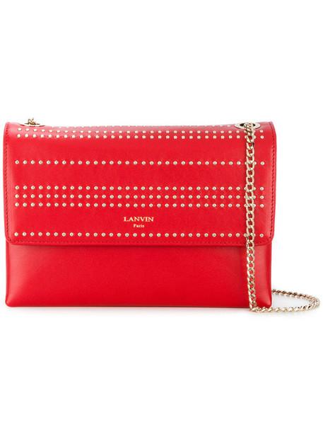 lanvin studded bag studded women bag red