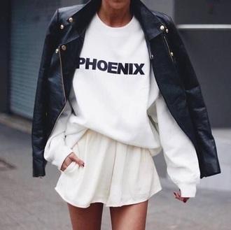sweater sweatshirt oversized sweater white sweater