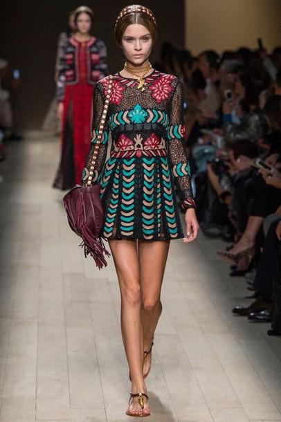 dress Valentino model style necklace make-up