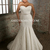 Trumpet/Mermaid Sweetheart Court Train Bow Applique Tulle Plus Size Wedding Dresses2014 - Gardeniasite