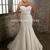 Trumpet/Mermaid Sweetheart Court Train Bow Applique Tulle Plus Size Wedding Dresses2014 - Gardeniasite