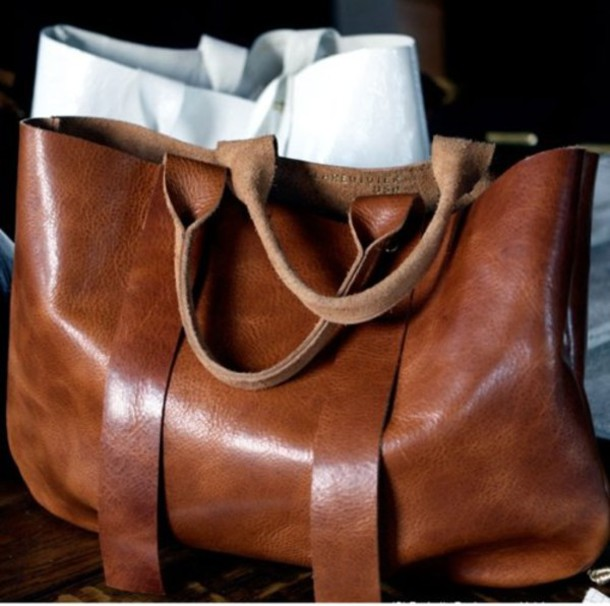 bag brown leather clare vivier tropézienne