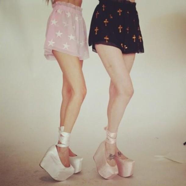 flatforms platform shoes ballet flats platform ballerinas jeffrey campbell