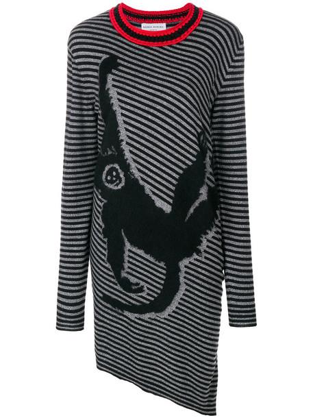 dress sweater dress women cotton black wool