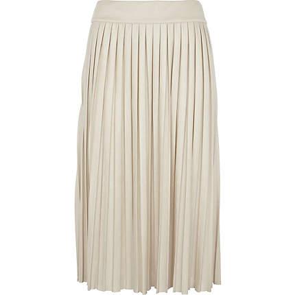 cream pleated midi skirt - skirts - skirts / shorts - women ...