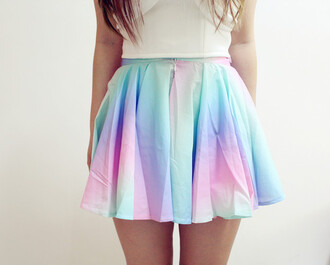 skirt rainbow pink blue multicolor skirt rainbow skirt fashion style pastel girly girly outfits tumblr plaid skirt skater skirt nice nice outfit cute dress cute cute outfits tie dye high waisted teenagers unicorn