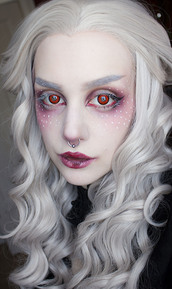 make-up,silver hair,costume,witch,halloween,halloween makeup