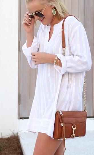 dress white blouse white tunic white tunic top white tunic dress long sleeve tunic summer tunic beachy tunic summer top longsleeve summer top nicoleannedaily tunic dress