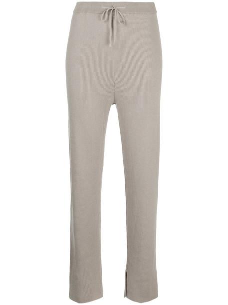 pants track pants women knit brown