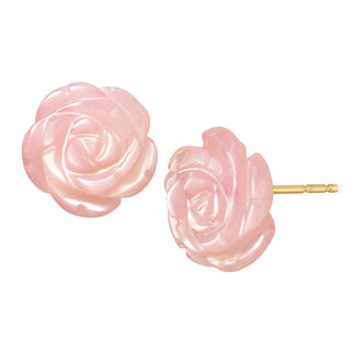 jewels pink studs pink rose studs pink rose flower earrings flower studs rose earrings pink flowers pink roses gold studs pink natural earrings small earrings