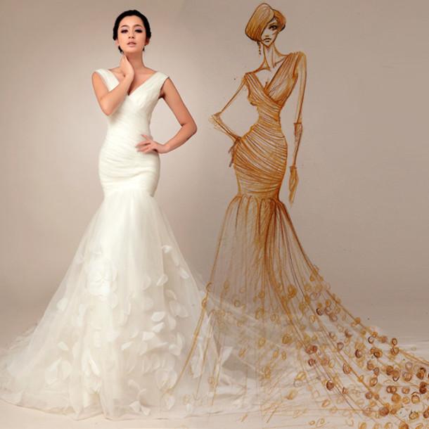 dress wedding dress bridal gown pink decoration 2014
