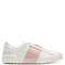 Colour-block leather low-top trainers