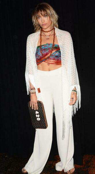 pants top ny fashion week 2017 nyfw 2017 white crop tops paris jackson