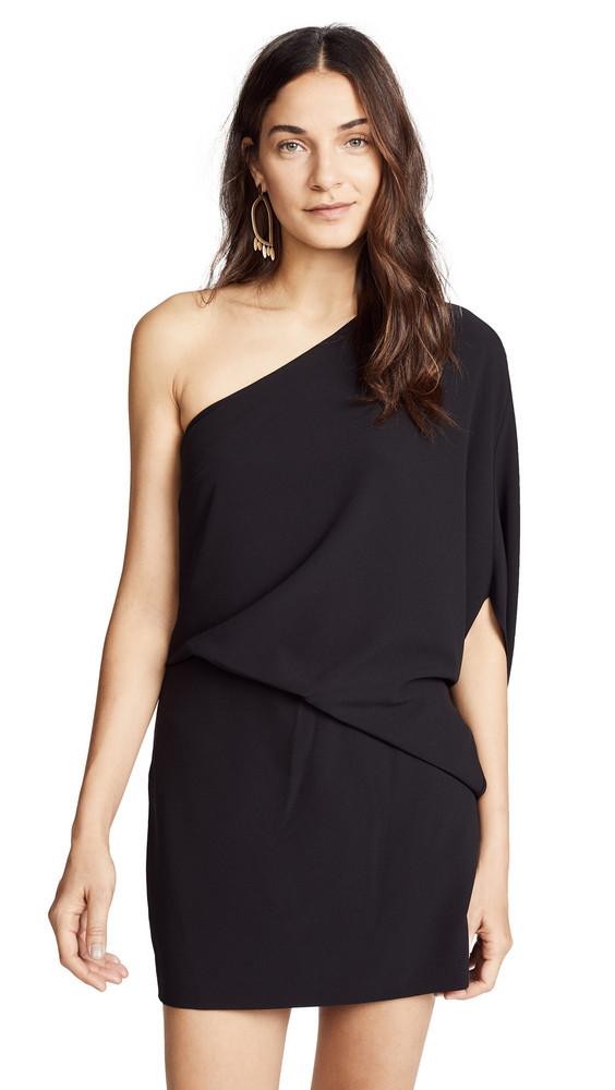 Halston Heritage One Shoulder Dress in black