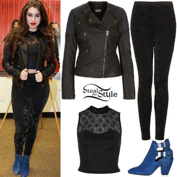 black velvet velvet black pants black pants velvet pants black velvet pants velvet clothing Lauren Jauregui Fifth Harmony leggings