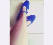 shoes,blue,flats,cute