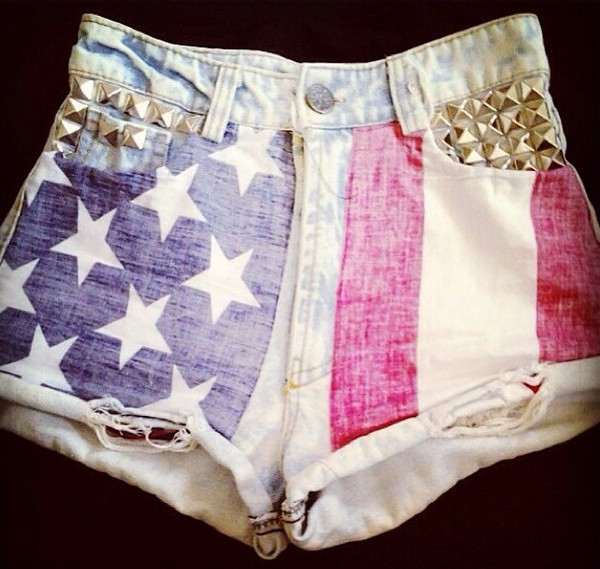 shorts american flag shorts american studded shorts studded cute shorts