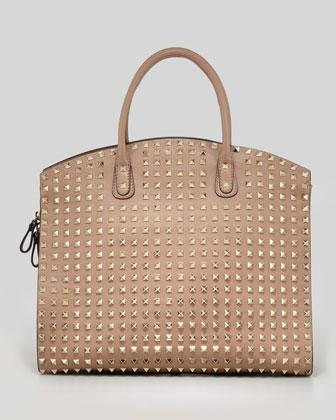 Valentino Rockstud Mini Tote Bag, Black - Bergdorf Goodman