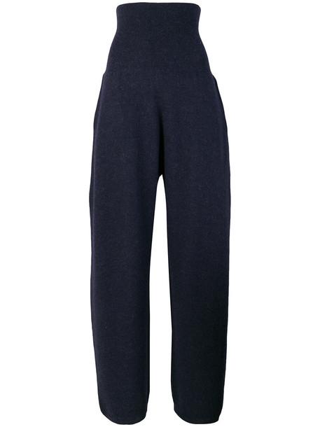 Stella McCartney high waisted high women blue wool pants