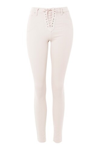 jeans pale lace pink