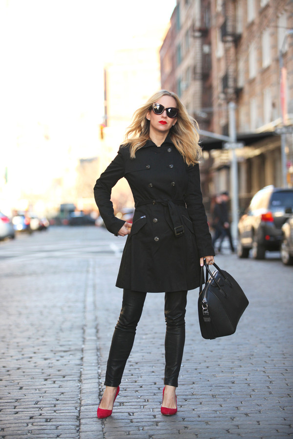 brooklyn blonde coat pants shoes bag sunglasses