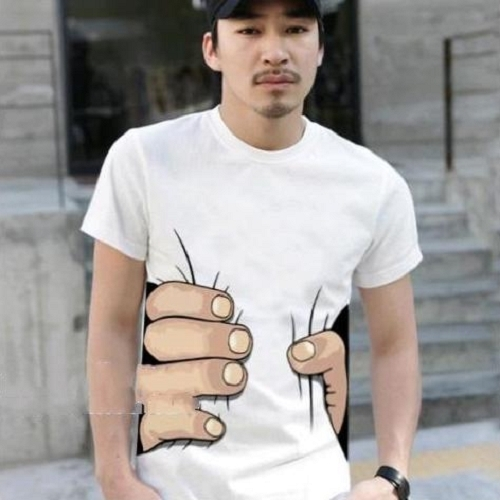 Men's Women's Funny Party Big Hand Catch Printed Short Sleeve T Shirt Tops 8831 | eBay