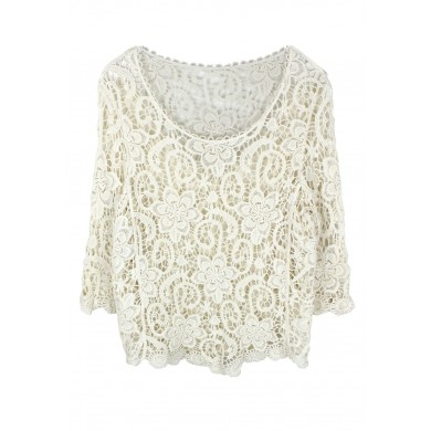 Floral Waves Crochet Top
