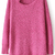 ROMWE | ROMWE Cut-out Round Neck Split Hem Rose Jumper, The Latest Street Fashion
