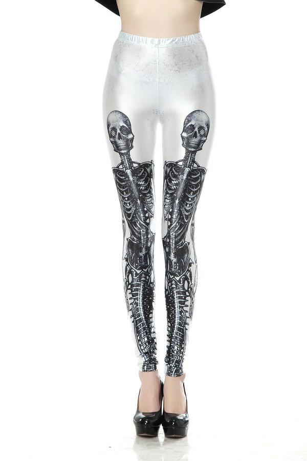 Shim Tights in Skeleton Graphic Print
