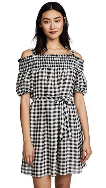 BOUTIQUE MOSCHINO dress gingham white black