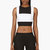 richard nicoll white and black waffle cotton bib_front crop top