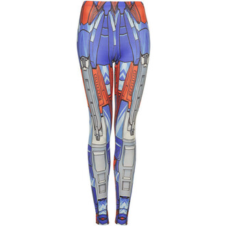 leggings transformers cartoon robot