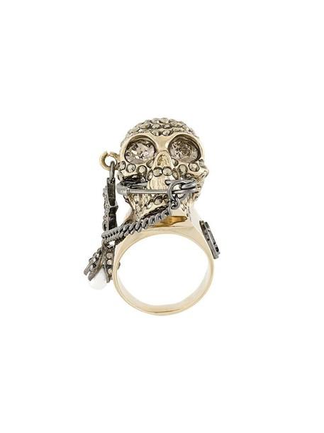 Alexander Mcqueen skull ring skull metallic women ring jewels