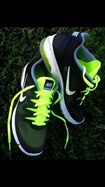shoes green and black nikes green black mesh nike