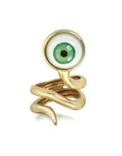 jewels,bronze snake ring with eye,eye,bronze,snake,ring,bernard delettrez