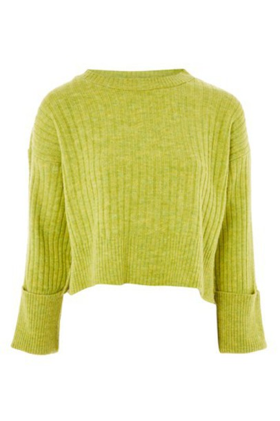 Topshop sweater lime